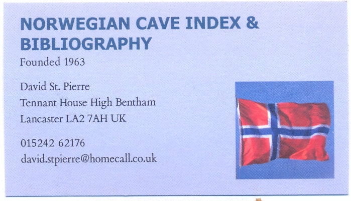 Hidden Earth 2016 Poster Norwegian Cave Index And Bibliography